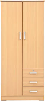 aft 2 door wooden wardrobe cupboard with 3 drawers beige by aft storage organization 1 review