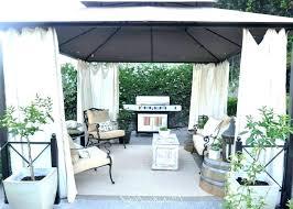 diy outdoor gazebo curtains backyard decor pergola decoration