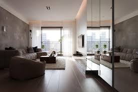... Indoor:Modern Interior Design Apartment For Studio Loft With Living  Room And Kitchen Underneath Modern ...