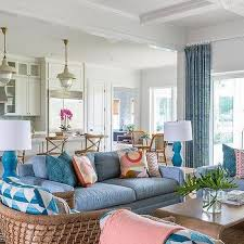 blue and brown living room colors
