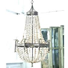 creative co op chandelier coop scalloped wood bead metal with crystals c
