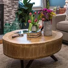 make a tree stump coffee table