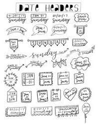 free date headers planner printables