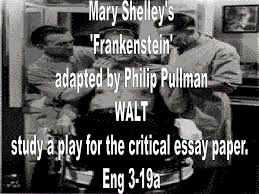 ppt mary shelley s frankenstein adapted by philip pullman walt mary shelley s