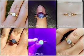 Diamond Ring Under Uv Light Does Anyone Have A Bgd Blue Diamond Or A Diamond With Med