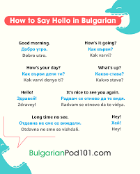 A manual of english phonetics and phonology: How To Say Hello In Bulgarian Guide To Bulgarian Greetings