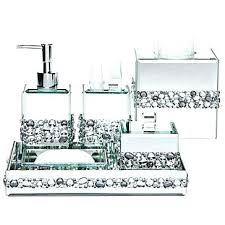 blue glass bathroom accessories. Glass Bathroom Accessories Lux Mirrored Bath With Ivory Trim Regard To Modern Blue S