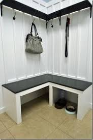 modern mudroom bench | mudroom bench. A corner bench like this would ...