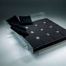 Image Translucent Concrete Contemporary Glass Beds Trend Hunter Contemporary Glass Beds Tempered Translucent Furniture