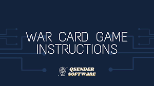 In war, cards are ranked aces high and 2s low. War Card Game Instructions How To Play Qsender