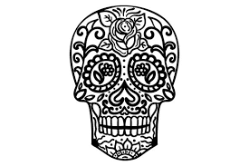 This free svg cut file is compatible with the cricut, silhouette cameo, and other craft cutters. Sugar Skull Svg Cut File By Creative Fabrica Crafts Creative Fabrica