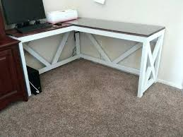 free u shaped computer desk plans l with hutch farmhouse rustic my hubby