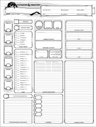 dungeons and dragons character sheet online dungeons and dragons character sheet 5th ed get it here wizards