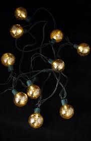 Mercury Glass String Lights Mercury Glass Globe String Lights 10ct 9ft Green Cord