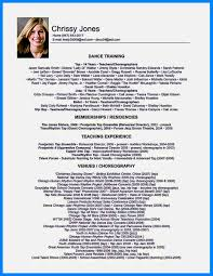 Gallery Of Dance Resume Examples