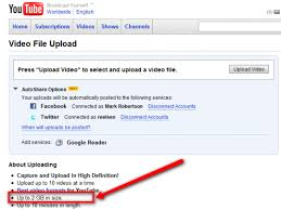 youtube video image size youtube doubles upload file size limit to 2gb more hd