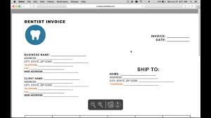 How To Make A Dental Invoice Excel Word Pdf Youtube With Free Dental