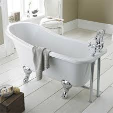 premier kensington 1500 small roll top slipper bath inc chrome legs