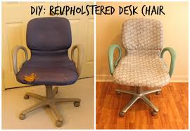 reupholstering an office chair. diy reupholstered office chair reupholstering an