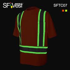 Hi Vis T Shirt Design Hot Item 2019 New Design Glow In Dark Hi Vis Workwear Luminous Reflective Tee Shirt