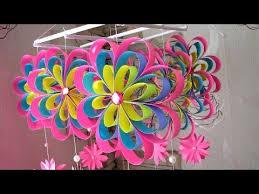 diy wind chime newspaper craft diy simple home decor hanging flowers handmade decoration