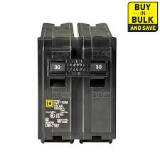 amp double pole breaker wiring image wiring shop square d homeline 30 amp 2 pole circuit breaker at lowes com on 30 amp