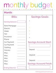 Easy Monthly Budget Easy Printable Monthly Budget Planner Download Them Or Print