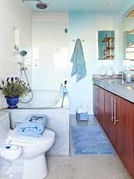 Various Shades of Blue for Tranquil Bathroom