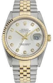 rolex datejust 18k ss gold original diamond men s watch 73% off rolex rolex datejust 18k ss gold original diamond men s watch