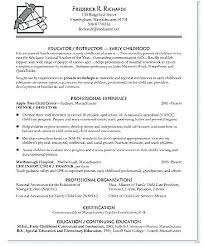 Special Ed Teacher Resume Beauteous Early Childhood Education Resume Sample Baxrayder