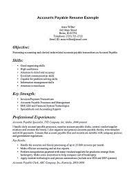 Accounts Payable Resume Summary Account Payable Resume Display Your Skills As Account Payable