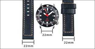 Watch Band Width Size Chart Strap Sizing Guide Crown Buckle