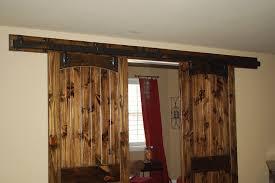 image of double sliding barn door hardware