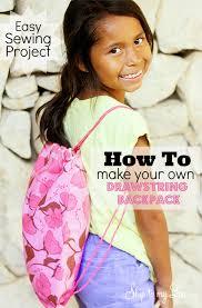 drawstring backpack pattern
