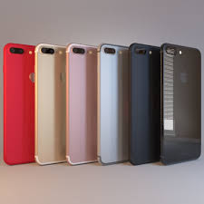 apple iphone 7 colors. apple iphone 7 plus all 6 colors 3d model max obj 3ds fbx c4d dae 1 o