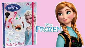 disney frozen make up book with makeup elsa anna unboxing