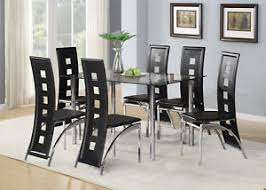 image is loading midnight gl dining table with 4 or 6