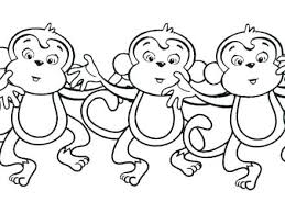 Cute Monkey Colouring Pages Cartoon Coloring For Toddlers 5 Little