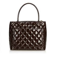 chanelpatent leather medallion tote
