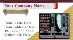 Vending Machine Company Names Awesome Vending Machines Business Cards Get Vending Locations Business