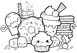 Kawaii Sweets Coloring Pages Wiring Diagram Database