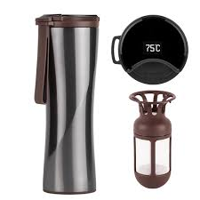 <b>Xiaomi Travel Mug</b> Moka Smart <b>Coffee Tumbler</b> 430 Ml <b>Portable</b> ...