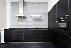 modern cabinets black. ultra modern kitchen with black cabinets and gray accent wall c