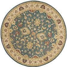 safavieh antiquities collection at15a handmade traditional oriental blue and beige wool round area rug 3
