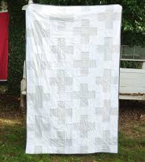 31 best Needle & Grain Original Quilts images on Pinterest ... & gray and white swiss cross or plus quilt Adamdwight.com