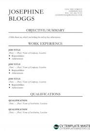 Simple Cv Template Collection Clean Cv Templates In Word To Download
