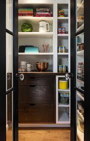 black metal and glass bi fold pantry doors