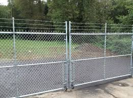 chain link fence post. Entryway Chain Link Fence Post