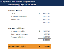 Net Liabilities Net Working Capital Template Download Free Excel Template