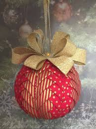 Best 25+ Quilted christmas ornaments ideas on Pinterest | Fabric ... & Handmade no sew quilted ornament - red and gold Adamdwight.com